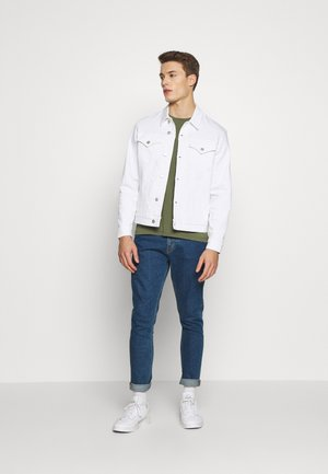 FOUNDATION SLIM JACKET - Denim jacket - white with embro
