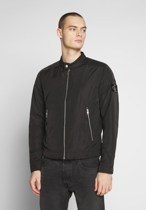 RACER WITH DETAILS - Korte jassen - black