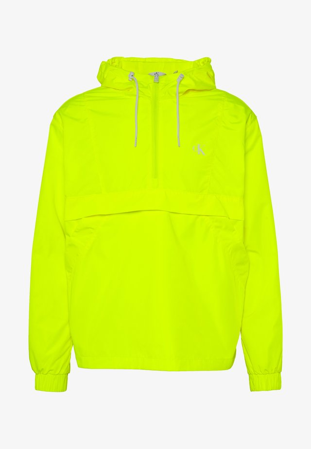 BACK LOGO POP OVER - Veste coupe-vent - safety yellow