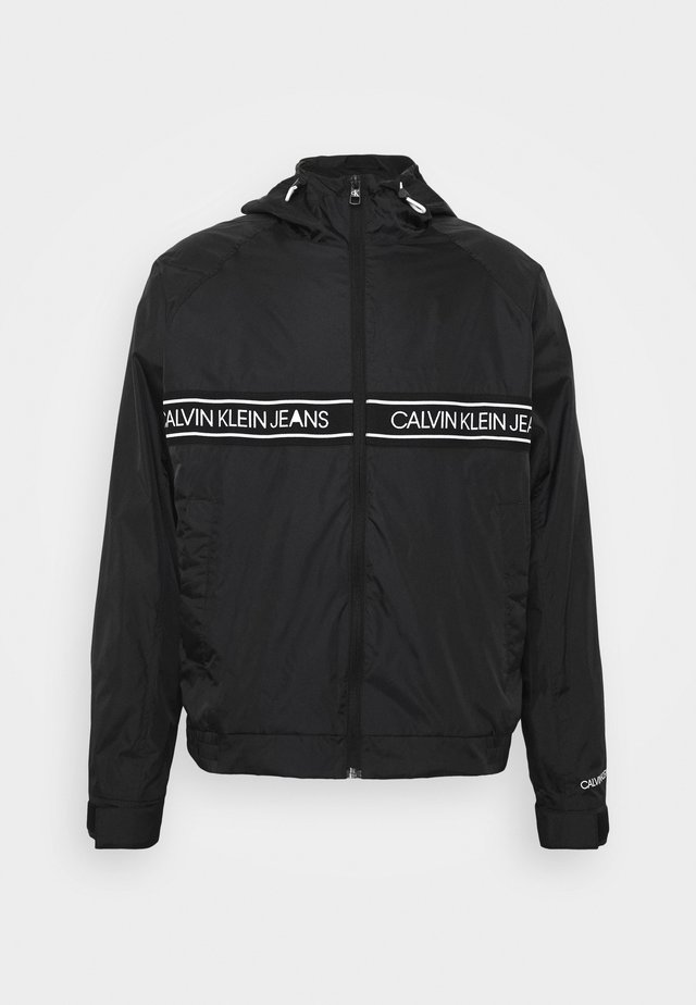 LOGO TAPE JACKET - Korte jassen - black