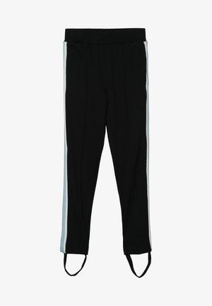 SIDE STRIPE PANTS - Broek - black