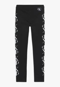 Calvin Klein Jeans - MIRROR MONOGRAM - Legginsy - black - 1