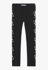 Calvin Klein Jeans - MIRROR MONOGRAM - Legginsy - black - 0