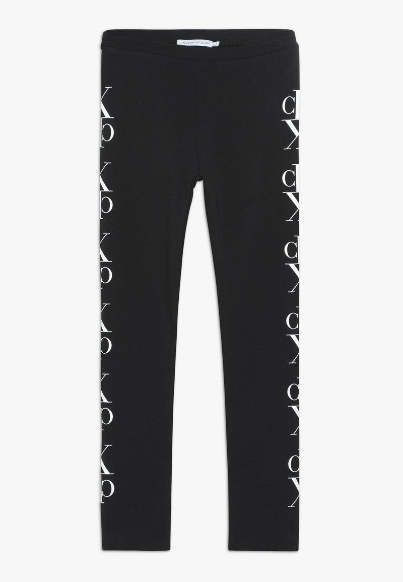 Calvin Klein Jeans - MIRROR MONOGRAM - Legginsy - black