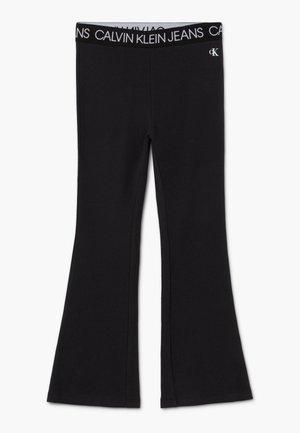 LOGO WAISTBAND FLARE - Pantaloni - black
