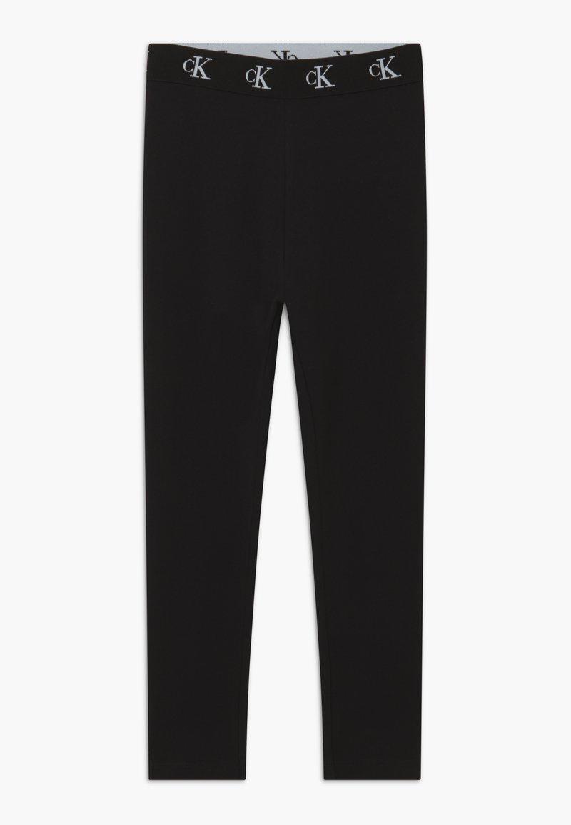Calvin Klein Jeans - MONOGRAM WAISTBAND - Leggingsit - black