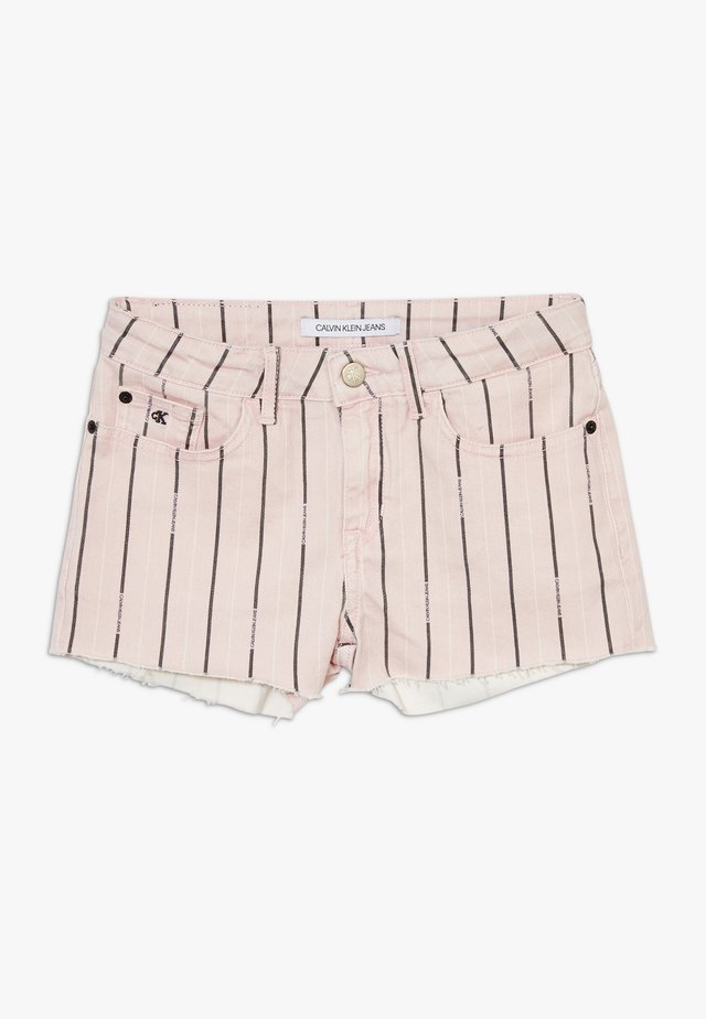 STRAIGHT STRIPED  - Shorts vaqueros - pink