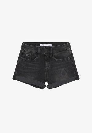 SLIM - Denim shorts - black denim