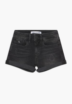 SLIM - Jeansshort - black denim