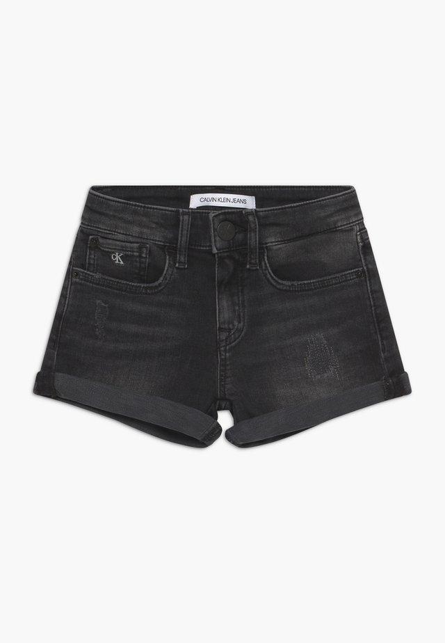 SLIM - Szorty jeansowe - black denim