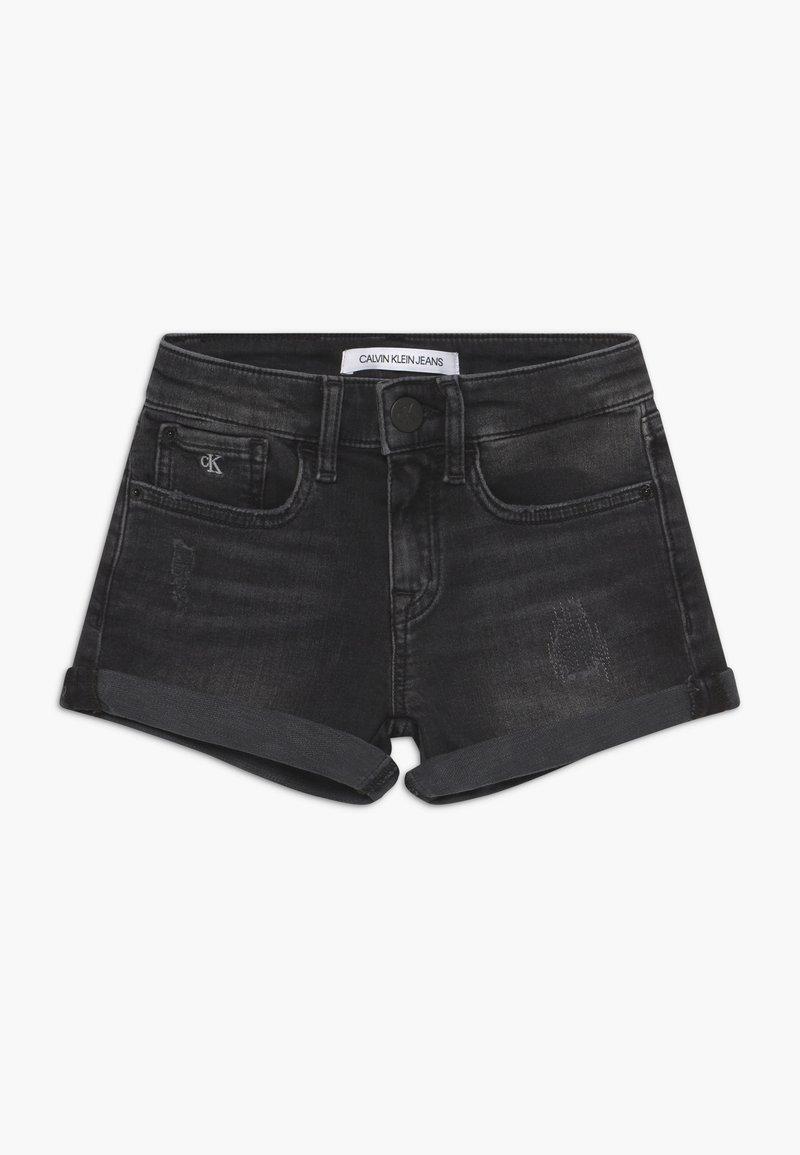 Calvin Klein Jeans - SLIM - Jeansshort - black denim