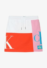 Calvin Klein Jeans - MONOGRAM PATHCHWORK LIGHT SKIRT - Mini skirt - multi