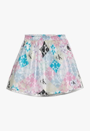 SHEER QUILT PATCHWORK SKIRT - Mini skirt - multicolor