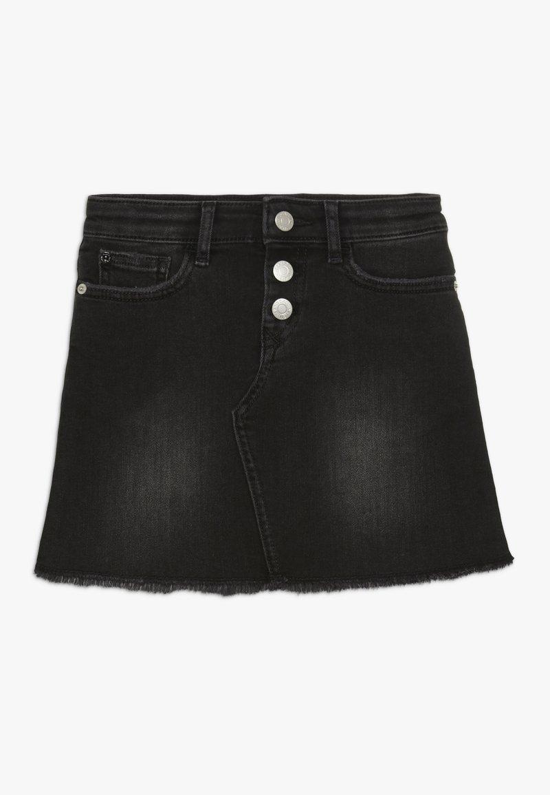 Calvin Klein Jeans - A LINE SKIRT STRETCH - Denimová sukně - denim