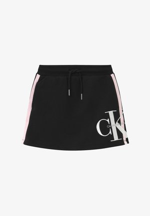 MONOGRAM STRIPE - A-line skirt - black