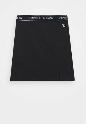 ELASTIC LOGO WAISTBAND SKIRT - Mini skirt - black