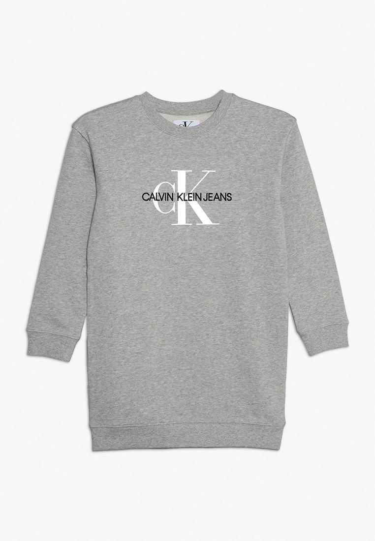 Calvin Klein Jeans - MONOGRAM SWEATSHIRT DRESS - Denní šaty - grey