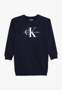Calvin Klein Jeans - MONOGRAM SWEATSHIRT DRESS - Kjole - blue - 0