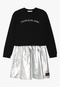 Calvin Klein Jeans - 2IN1 LOGO DRESS - Mikina - silver - 0