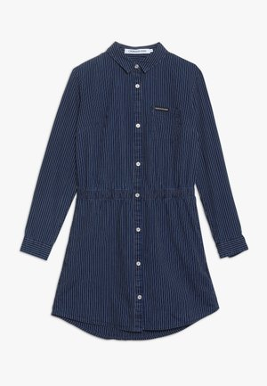 SHIRT DRESS STRIPE RIGID - Robe en jean - denim