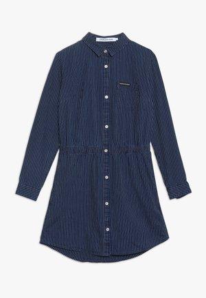 SHIRT DRESS STRIPE RIGID - Jeanskleid - denim
