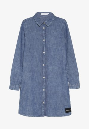 MARBLE WASH DRESS - Denim dress - denim