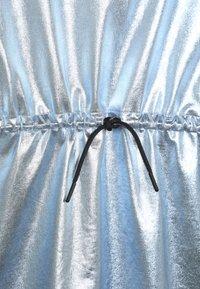 Calvin Klein Jeans - METALLIC DRESS - Vestido ligero - blue - 4