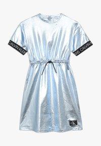 Calvin Klein Jeans - METALLIC DRESS - Vestido ligero - blue - 0