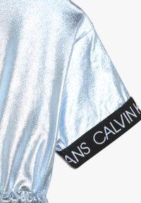 Calvin Klein Jeans - METALLIC DRESS - Vestido ligero - blue - 2