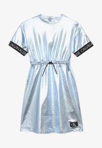 Calvin Klein Jeans - METALLIC DRESS - Vestido ligero - blue - 3