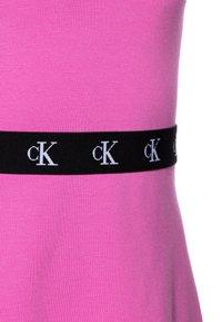 Calvin Klein Jeans - MONOGRAM PUNTO SKATER DRESS - Jersey dress - pink - 2