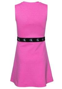 Calvin Klein Jeans - MONOGRAM PUNTO SKATER DRESS - Jersey dress - pink - 1