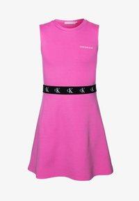Calvin Klein Jeans - MONOGRAM PUNTO SKATER DRESS - Jersey dress - pink - 0