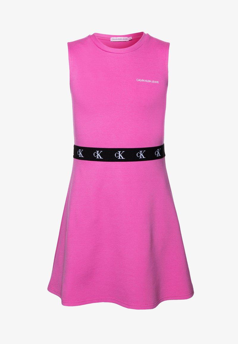 Calvin Klein Jeans - MONOGRAM PUNTO SKATER DRESS - Jersey dress - pink