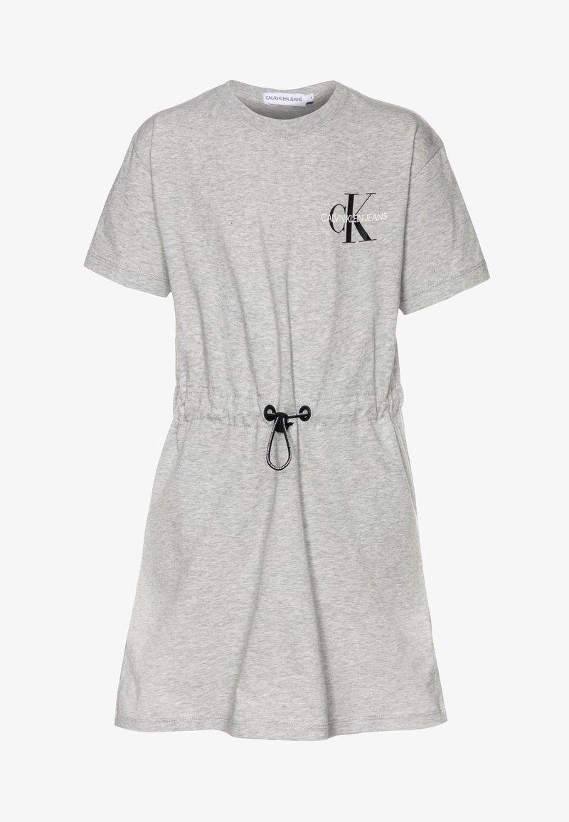 Calvin Klein Jeans - SMALL MONOGRAM DRESS - Trikoomekko - grey