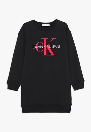 MONOGRAM SWEATSHIRT DRESS - Day dress - black