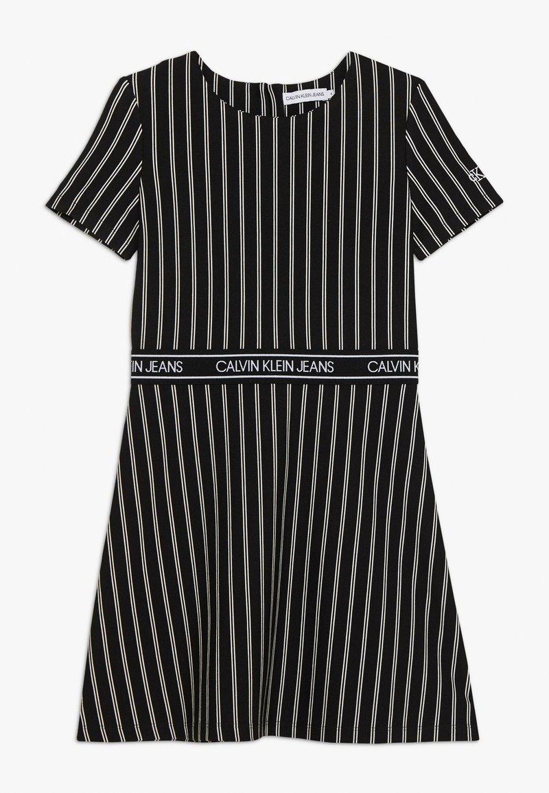Calvin Klein Jeans - CITY STRIPE DRESS - Trikoomekko - black