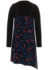 Calvin Klein Jeans - ASYMETRIC FLOWER DRESS SET - Vapaa-ajan mekko - black - 1