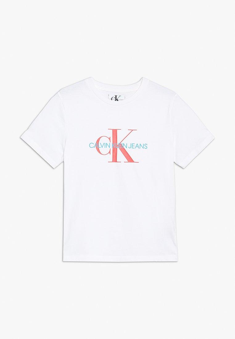 Calvin Klein Jeans - MONOGRAM REGULAR TEE - Print T-shirt - white