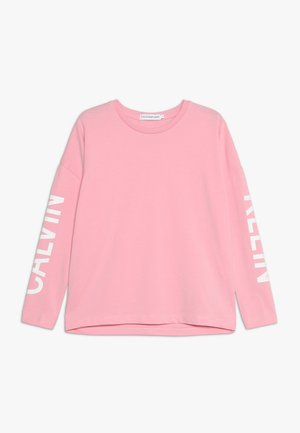 LONG SLEEVE LOGO GIRLS TEE - Long sleeved top - pink
