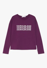 Calvin Klein Jeans - TRIPLE LOGO - Long sleeved top - purple - 0
