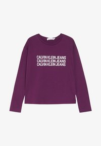 Calvin Klein Jeans - TRIPLE LOGO - Long sleeved top - purple - 2
