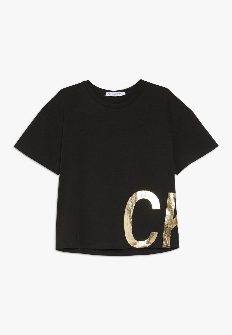 Calvin Klein Jeans - BOXY FOIL - Print T-shirt - black