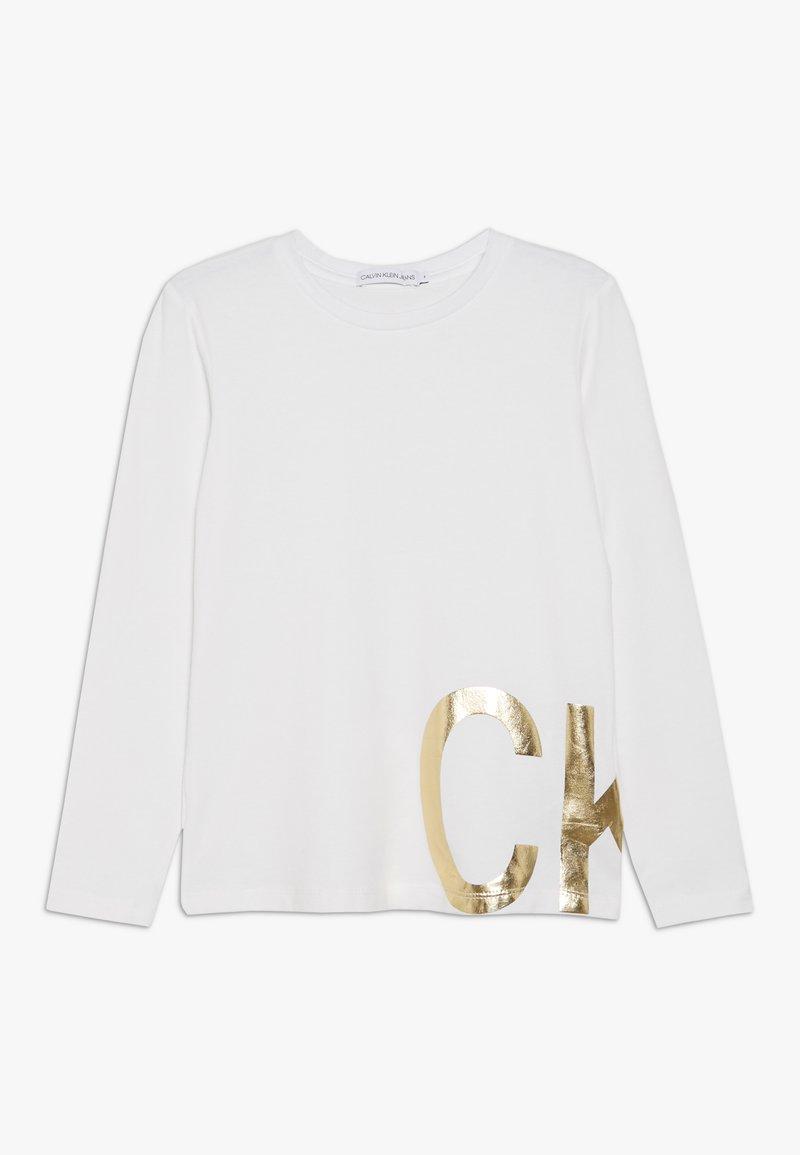 Calvin Klein Jeans - FOIL - Maglietta a manica lunga - white