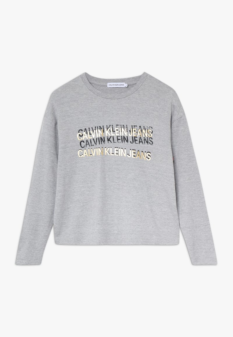 Calvin Klein Jeans - FOIL TRIPLE LOGO - Long sleeved top - grey