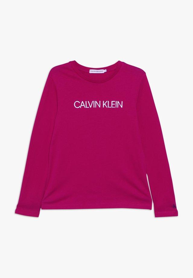 LOGO FOIL PRINT  - Pitkähihainen paita - pink
