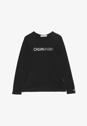 LOGO FOIL PRINT  - Long sleeved top - black