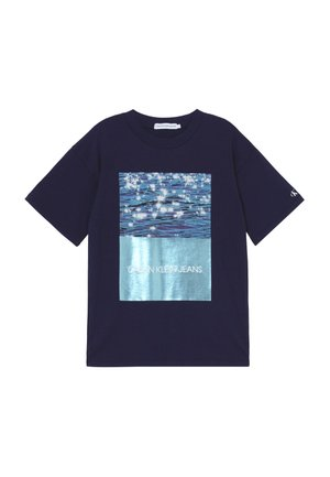 PHOTO OVERSIZED  - T-Shirt print - blue