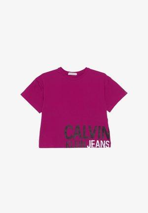 STAMP LOGO BOXY - T-shirt print - pink