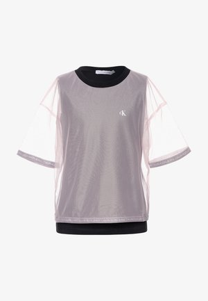 DOUBLE LAYER - Print T-shirt - pink
